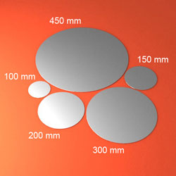 silicon wafer sizes